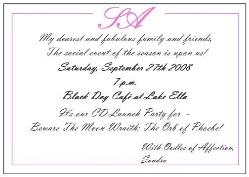 one response to you are cordially invited